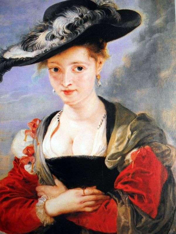 Портрет дамы в соломенной шляпке   Питер Рубенс