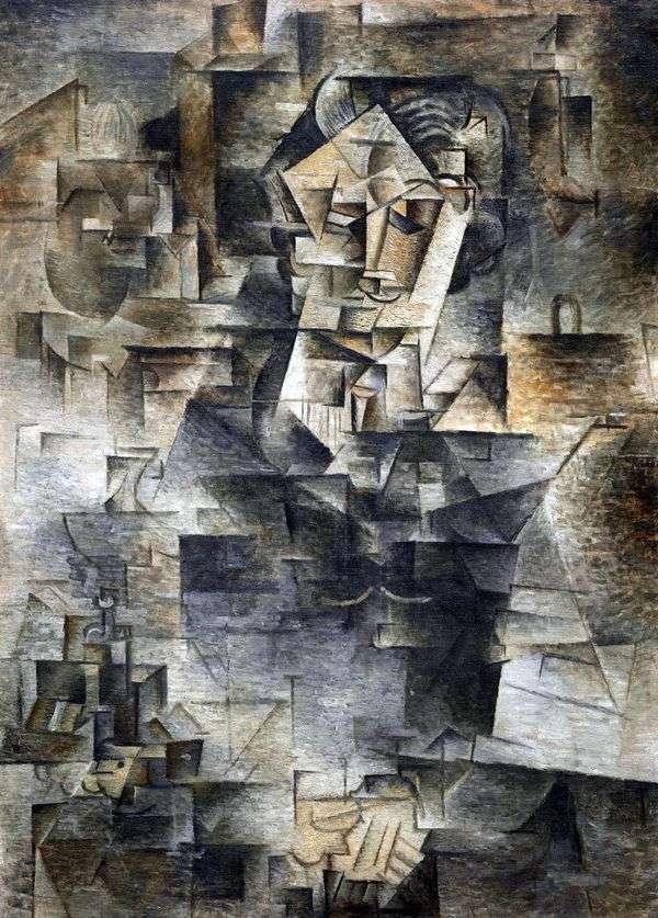 Портрет Даниэля Анри Канвейлера   Пабло Пикассо