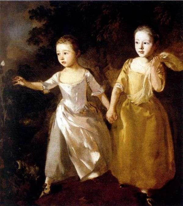 Портрет дочерей художника   Томас Гейнсборо