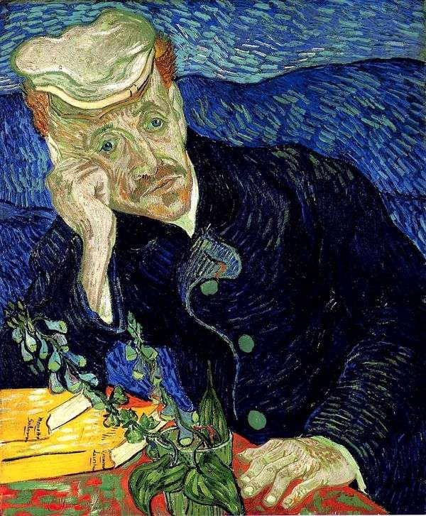 Портрет доктора Гаше II   Винсент Ван Гог