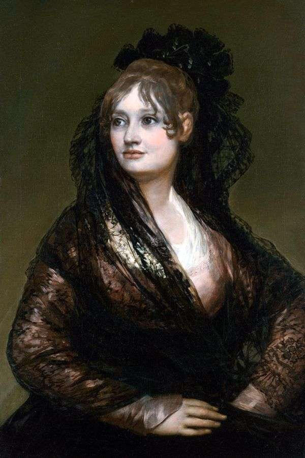Портрет донны Исабель де Порсель   Франсиско де Гойя