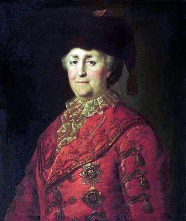 Портрет Екатерины II в дорожном костюме   Михаил Шибанов