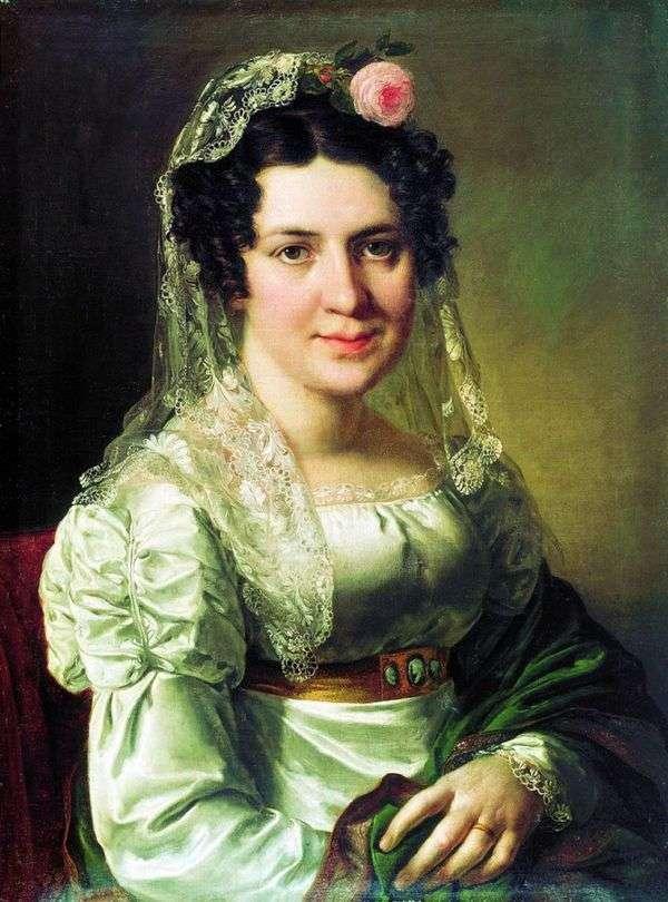 Портрет Елены Дмитриевны Щепкиной   Василий Тропинин