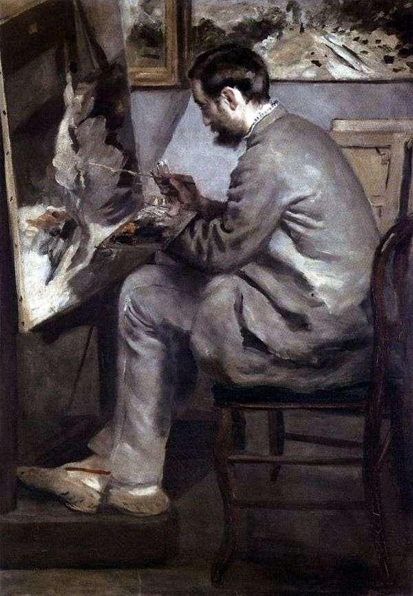 Портрет Фредерика Базиля за мольбертом   Пьер Огюст Ренуар