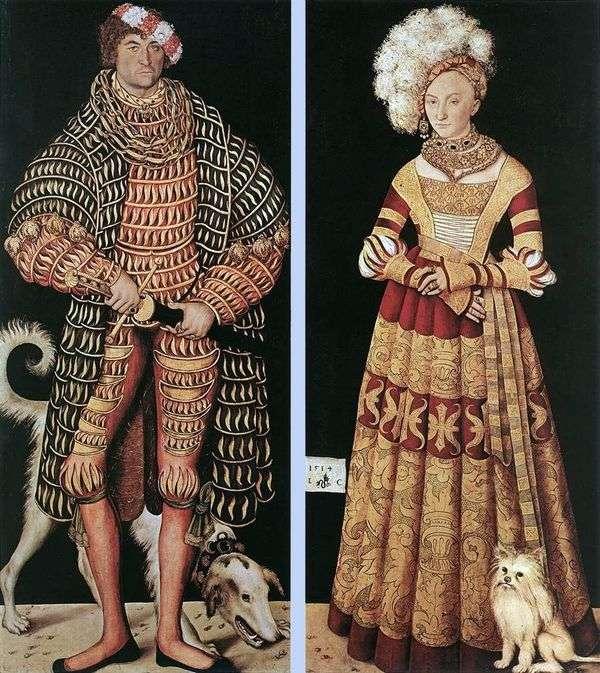 Портрет герцога Генриха Благочестивого и его жены Катерины Мекленбургской   Лукас Кранах