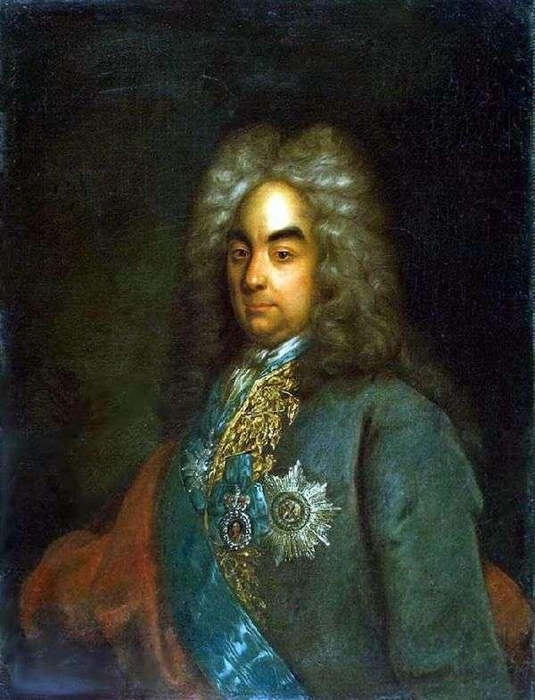 Портрет графа Петра Андреевича Толстого   Иоганн Готфрид Таннауэр