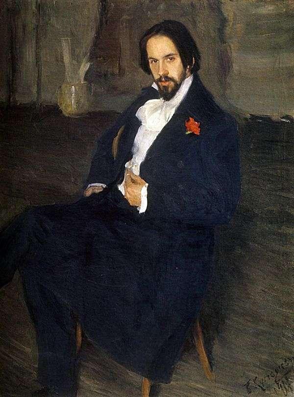 Портрет И. Я. Билибина   Борис Кустодиев