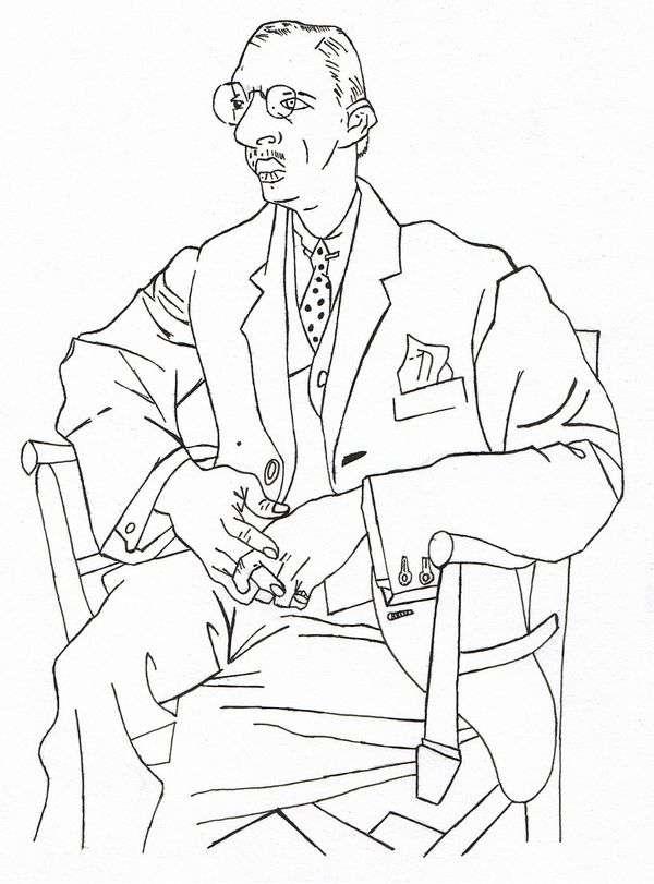 Портрет Игоря Стравинского   Пабло Пикассо