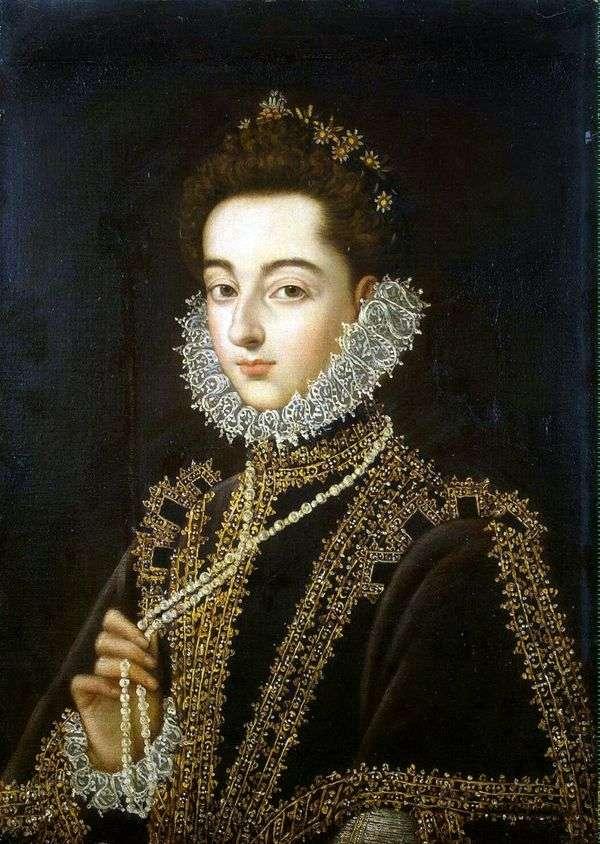 Портрет инфанты Каталины Микаэлы Австрийской   Алонсо Санчес Коэльо