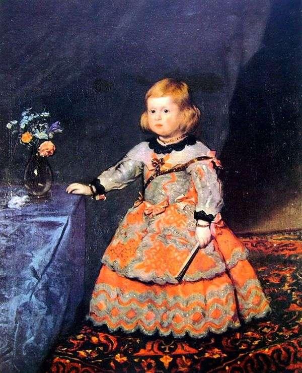 Портрет инфанты Маргариты в красном платье   Диего Веласкес