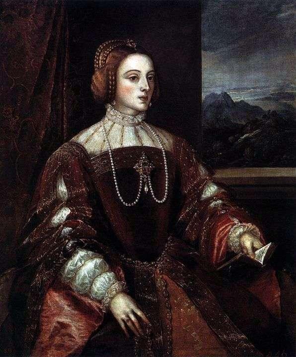 Портрет Изабеллы Португальской   Тициан Вечеллио