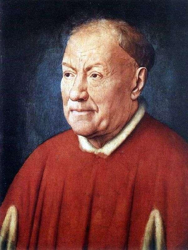 Портрет кардинала Никколо Альбергати   Ян ван Эйк