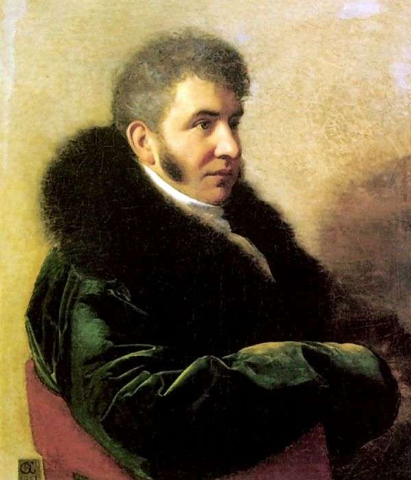 Портрет князя И. А. Гагарина   Орест Кипренский