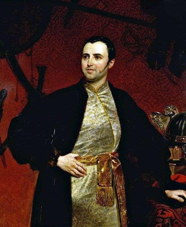 Портрет князя М. А. Оболенского   Карл Брюллов