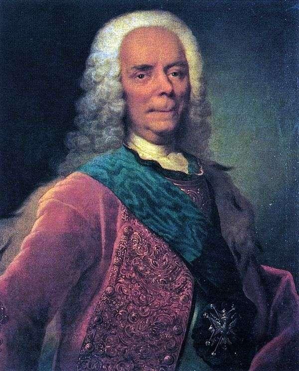 Портрет князя В. В. Долгорукова   Георг Христофор Гроот