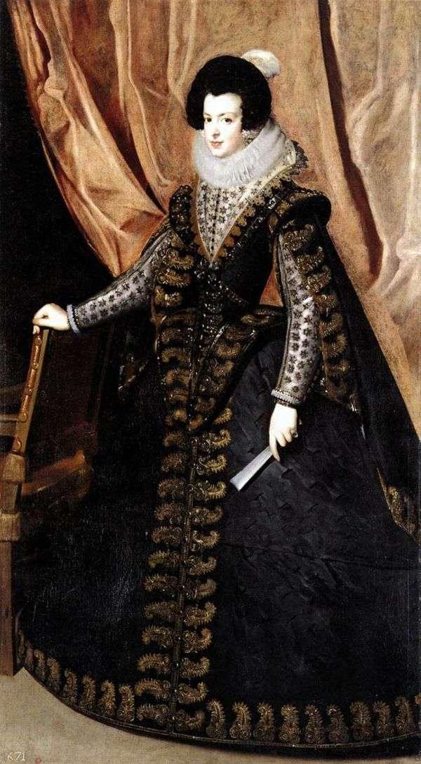 Портрет королевы Изабеллы Бурбонской   Диего Веласкес