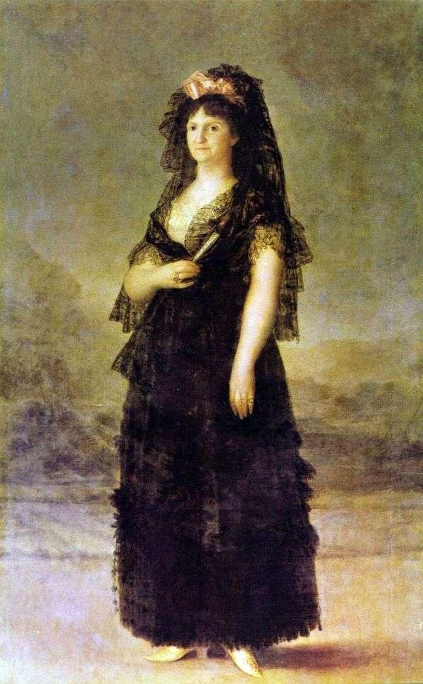 Портрет королевы Марии Луизы Пармской   Франсиско де Гойя