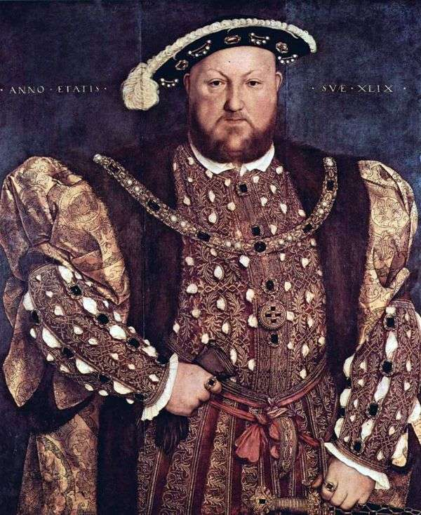 Портрет короля Генриха VIII   Ганс Гольбейн