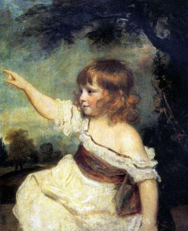 Портрет леди Джонс в детстве   Джошуа Рейнолдс