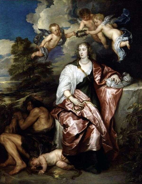 Портрет леди Венеции Дигби, олицетворяющей Благоразумие   Энтони Ван Дейк
