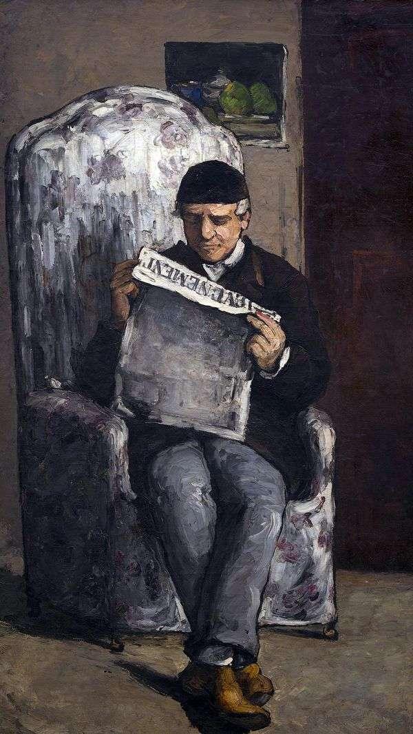 Портрет Луи Огюста Сезанна, отца художника, читающего Эвенман   Поль Сезанн