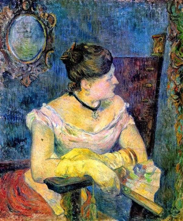 Портрет мадам Гоген в вечернем платье   Поль Гоген