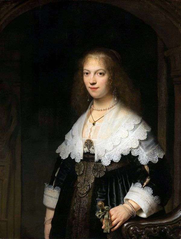 Портрет Марии Трип   Рембрандт Харменс Ван Рейн