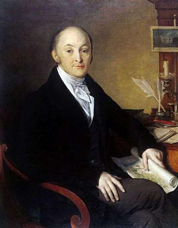 Портрет Михаилa Михайловича Сперанского   Василий Тропинин