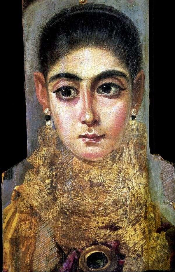 Портрет молодой дамы   Фаюмский портрет