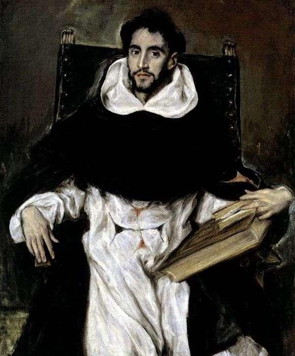 Портрет монаха Ортенсио Парависино   Эль Греко