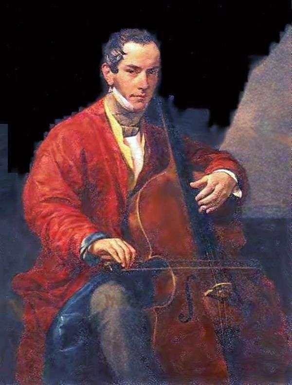 Портрет музыканта М. Ю. Виельгорского   Карл Брюллов