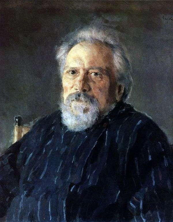 Портрет Н. С. Лескова   Валентин Серов