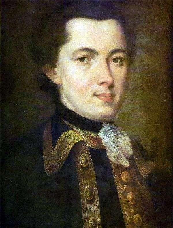 Портрет неизвестного молодого человека в гвардейском мундире   Федор Рокотов