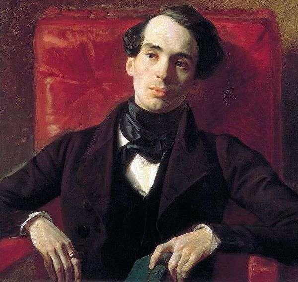 Портрет писателя А. Н. Струговщикова   Карл Брюллов