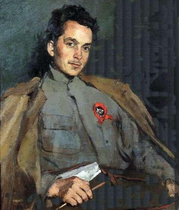 Портрет писателя Д. А. Фурманова   Сергей Малютин