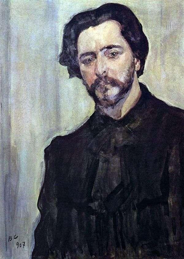 Портрет писателя Леонида Андреева   Валентин Серов