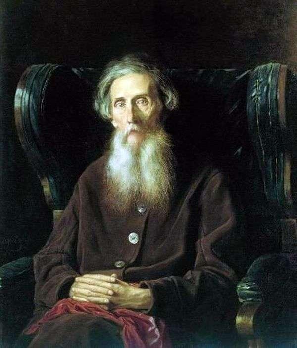 Портрет писателя Владимира Ивановича Даля   Василий Перов