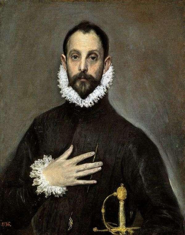 Портрет пожилого дворянина   Эль Греко