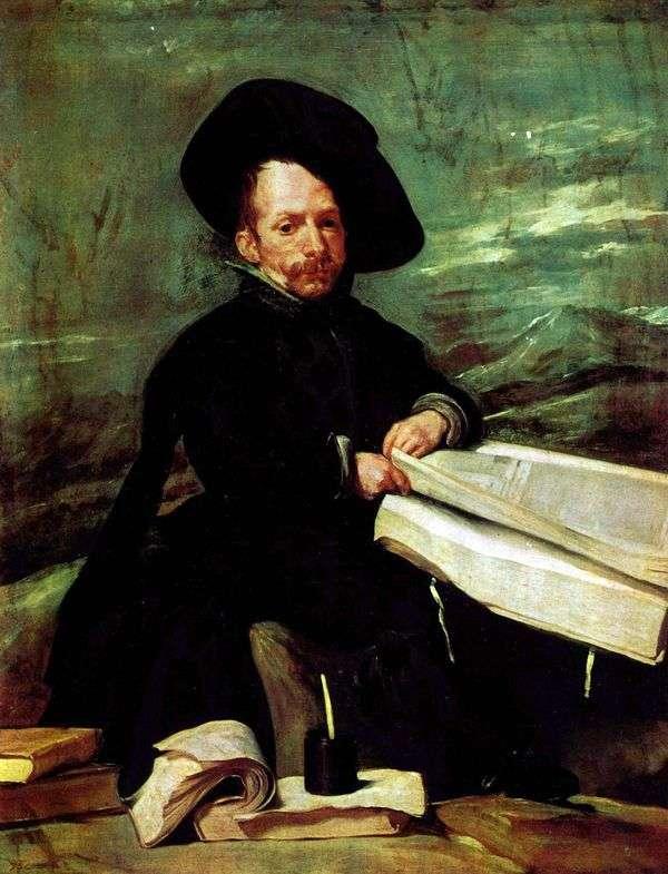Портрет придворного шута Эль Примо   Диего Веласкес