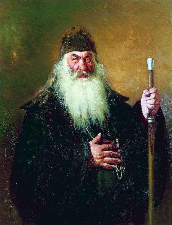 Портрет Протодиакона   Илья Репин