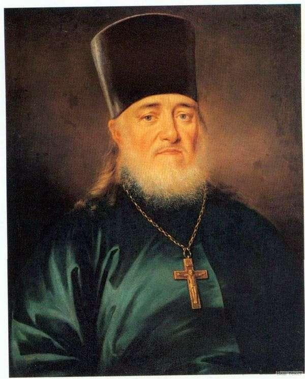 Портрет священника Петра Левицкого   Дмитрий Левицкий