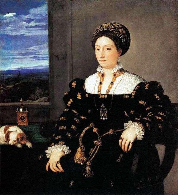 Портрет урбинской герцогини Элеоноры Гонзага   Тициан Вечеллио