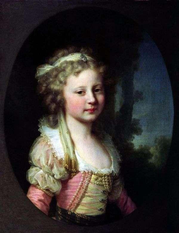 Портрет великой княжны Елены Павловны в детстве   Иоганн Баптист Лампи
