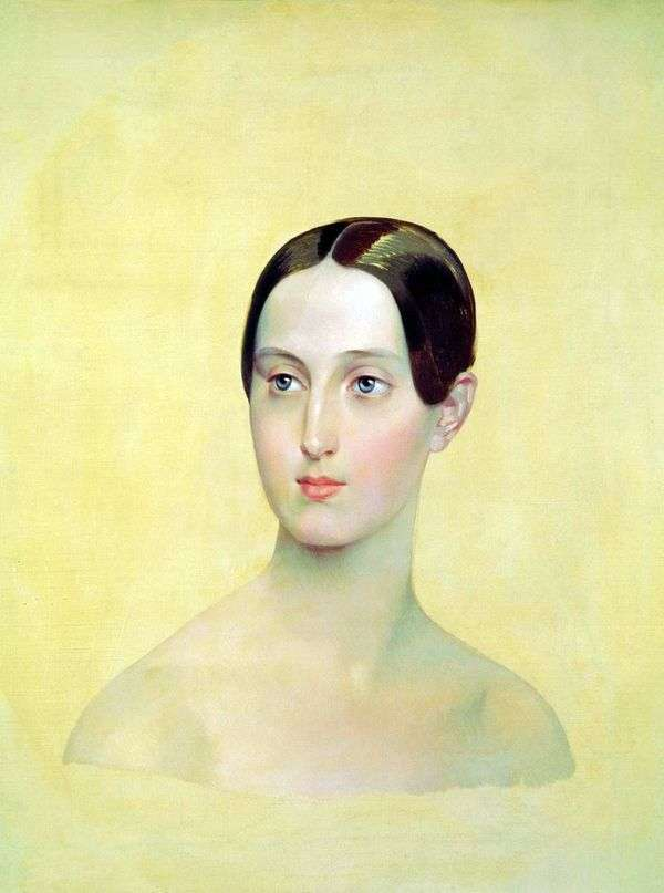 Портрет великой княжны Марии Николаевны   Карл Брюллов