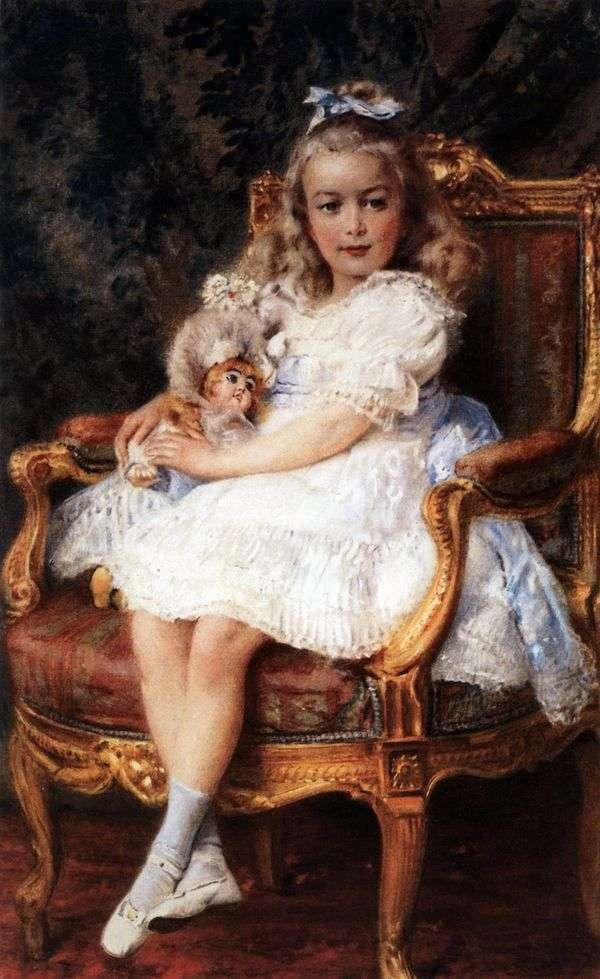 Портрет великой княжны Марии Николаевны   Константин Маковский