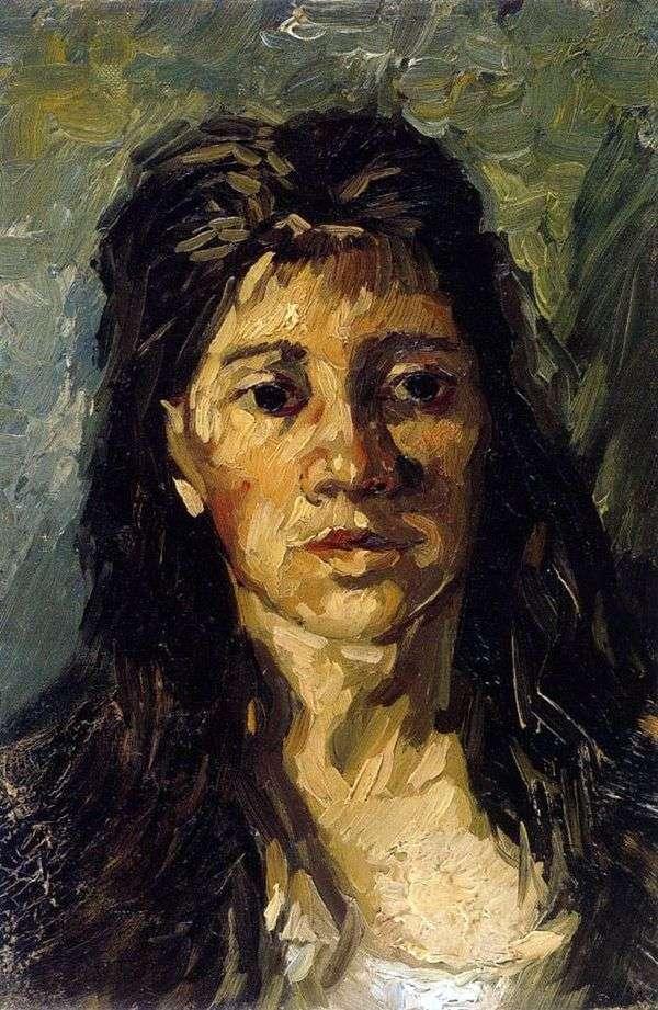 Портрет женщины с распущенными волосами   Винсент Ван Гог
