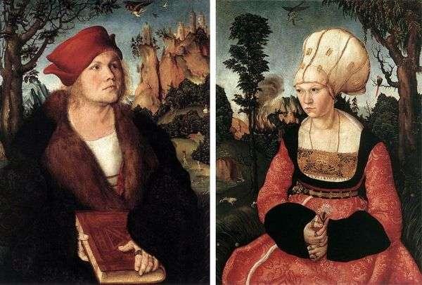 Портреты Иоганнеса Куспиниана и его жены   Лукас Кранах