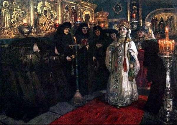 Посещение царевной женского монастыря   Василий Суриков