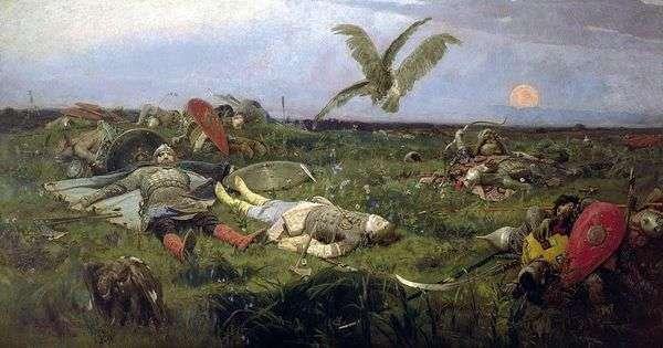 После побоища Игоря Святославича с половцами   Виктор Васнецов