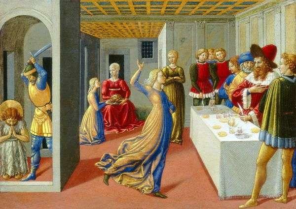 Праздник Ирода и усекновение главы Иоанна Крестителя   Беноццо Гоццоли